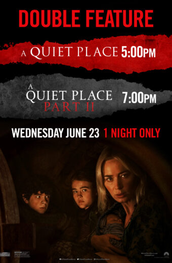 2 for 1 Double Feature-Weds 6/23